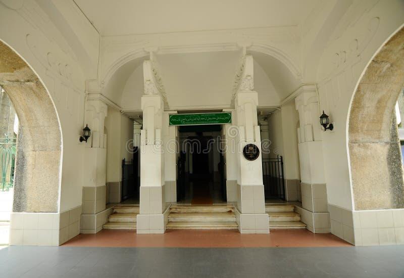 Inre av Sultan Sulaiman Mosque i Klang arkivbilder