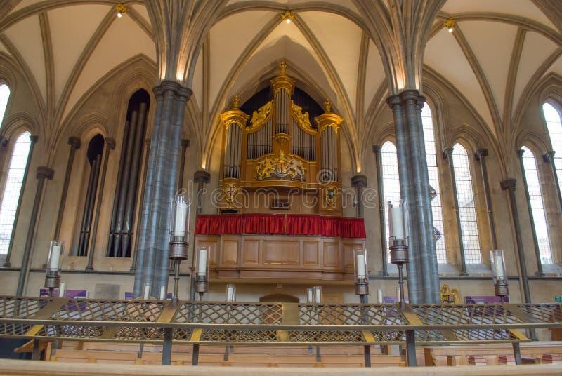 Inre av tempelkyrkan, London arkivfoton