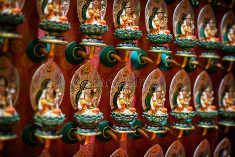 Inre av templet för Buddhatandrelik i Singapore royaltyfria foton