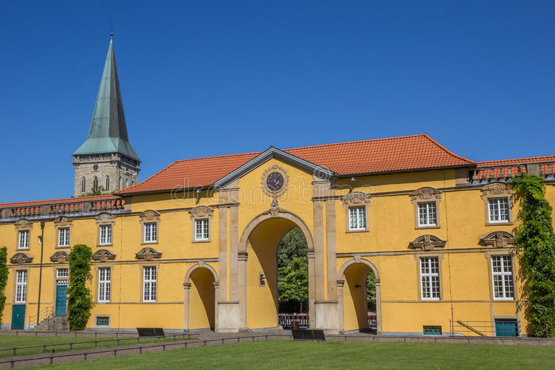 Inre borggård av slotten Osnabruck fotografering för bildbyråer