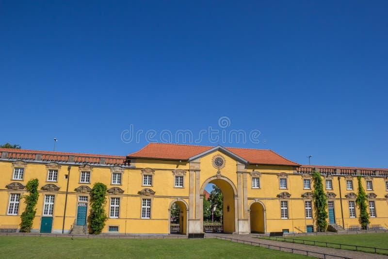 Inre borggård av universitetet av Osnabruck arkivbilder