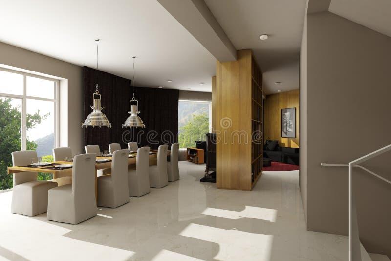 inre bostads för hus royaltyfri illustrationer