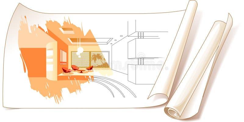 inre designteckningar vektor illustrationer