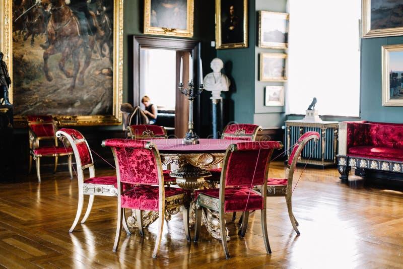 Inre detaljer av den Frederiksborg slotten i Hillerod, Danmark royaltyfria foton