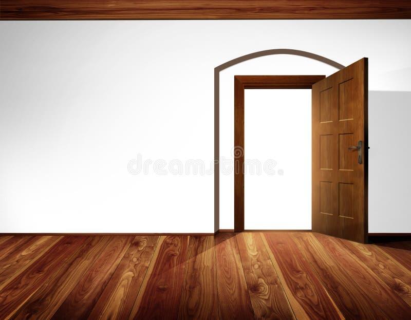 Inre för öppen dörr vektor illustrationer