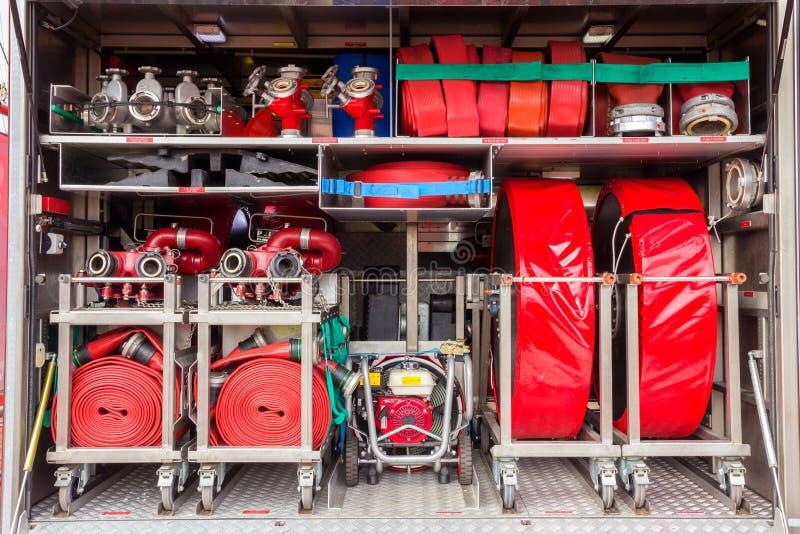Inre för brandlastbil fotografering för bildbyråer