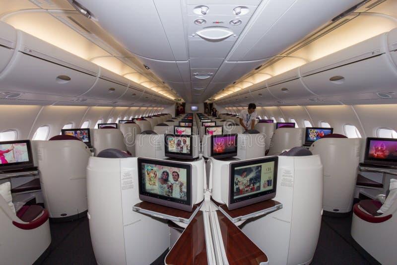 Inre för flygbuss A380 fotografering för bildbyråer