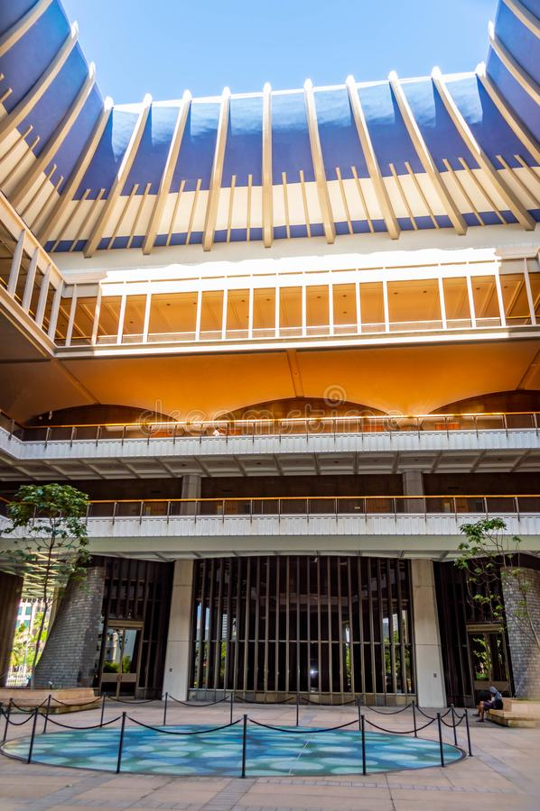 Inre för Hawaii statKapitolium fotografering för bildbyråer