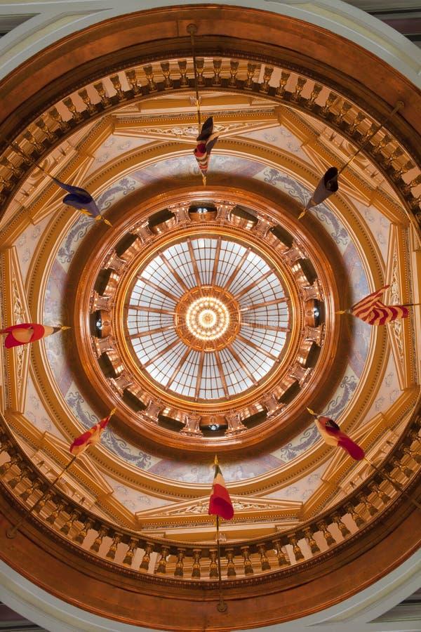 Inre för Kansas tillståndsKapitolium royaltyfri bild