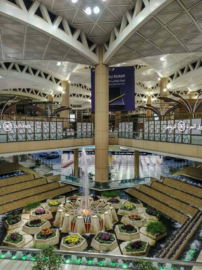 Inre för konung Haled International Airport royaltyfri fotografi