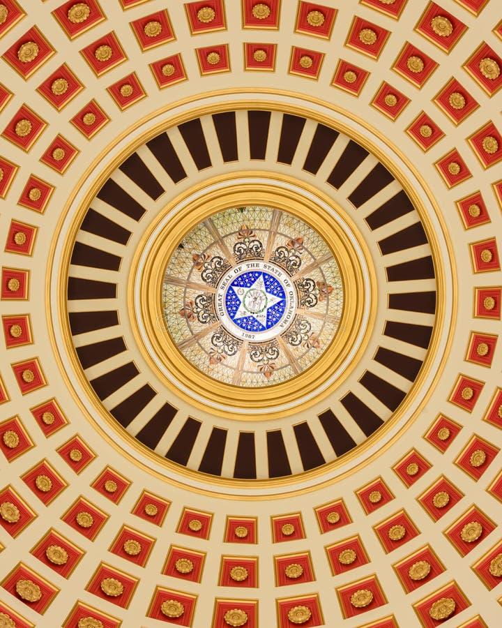 Inre för Oklahoma Capitolkupol royaltyfria bilder