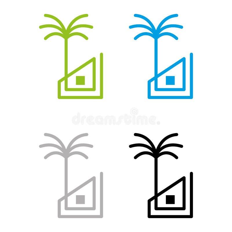 Inre för strand House vektor illustrationer