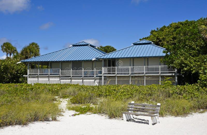 Inre för strand House royaltyfria bilder