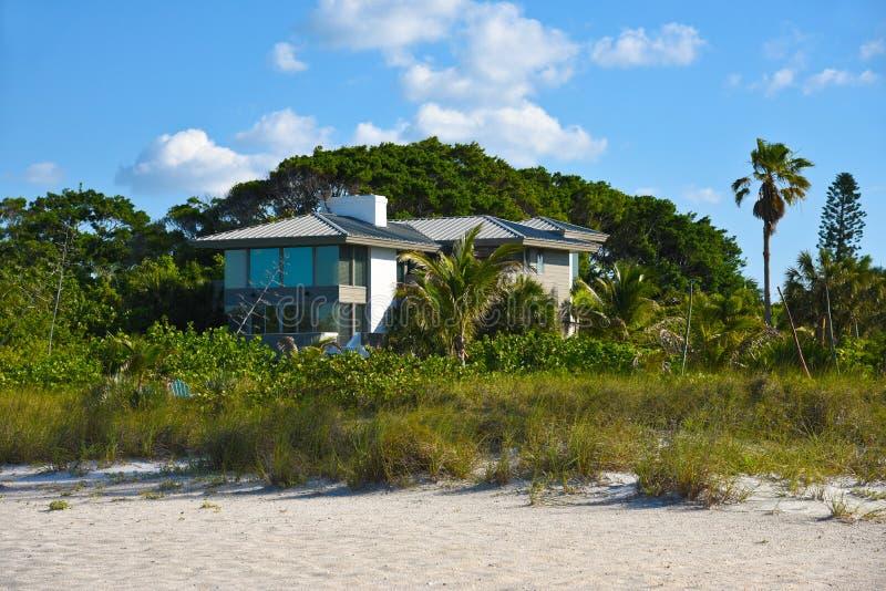 Inre för strand House arkivfoton