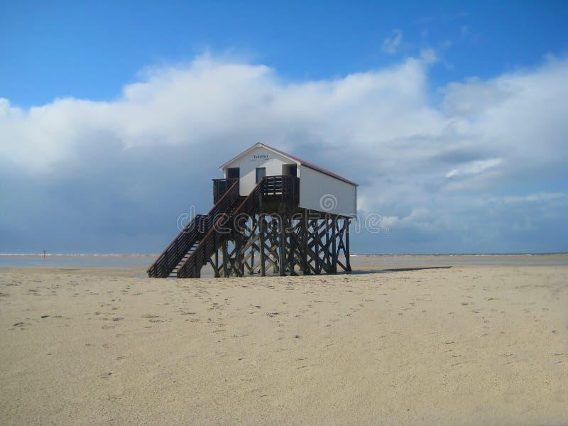Inre för strand House arkivfoto
