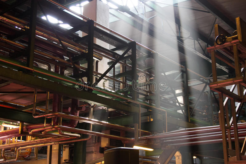 Inre fabrik royaltyfria foton