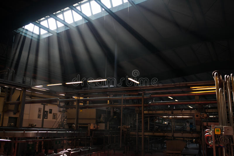 Inre fabrik arkivbild
