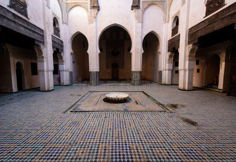 Inre gård Riad, Marocko arkivbild