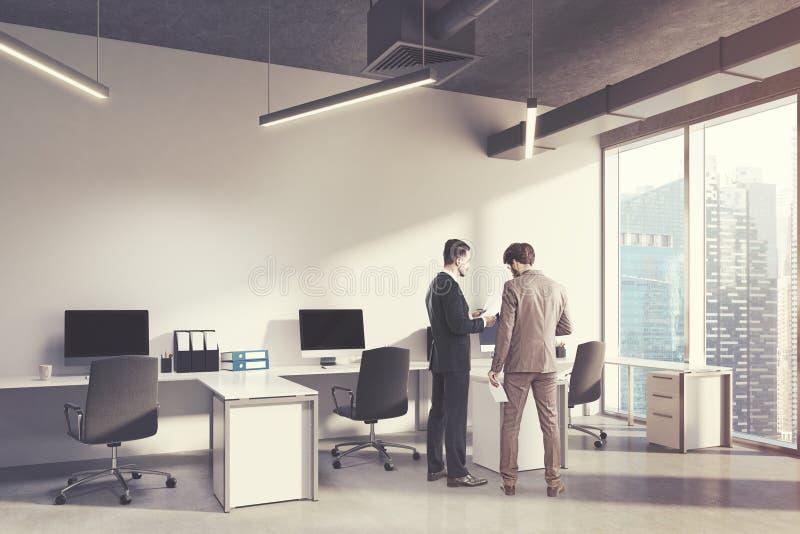 Inre hörn för öppet utrymmekontor, folk arkivfoton