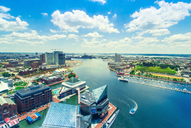 Inre hamn av Baltimore, Maryland royaltyfri foto