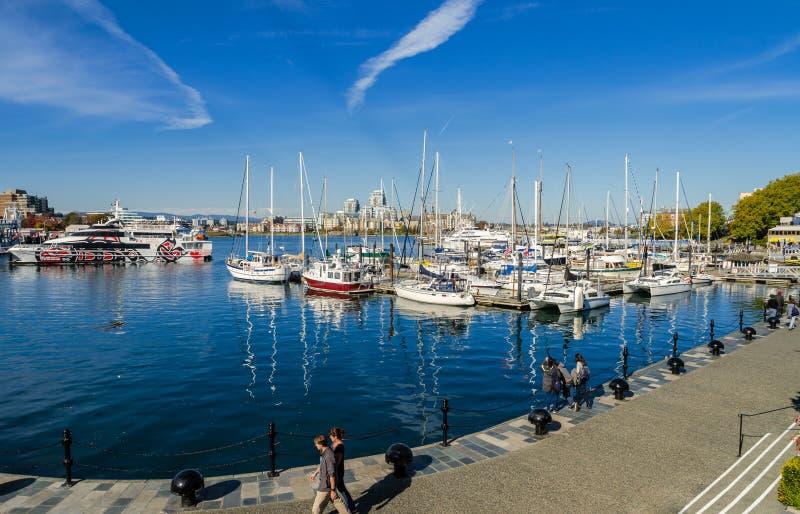 Inre hamn av Victoria Harbour i British Columbia, Kanada royaltyfri foto
