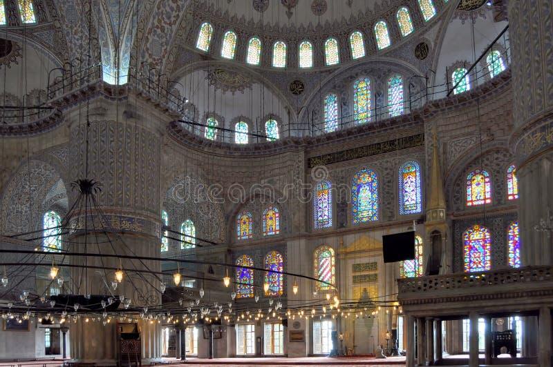 inre istanbul för blue moské royaltyfria bilder