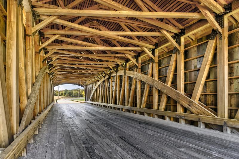 Inre kapten Swift Covered Bridge arkivbilder