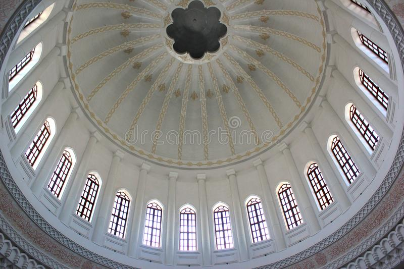 Inre kupol av Heydar Mosque, Baku arkivfoton