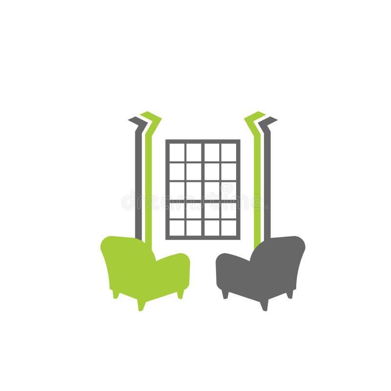inre logolokal stock illustrationer