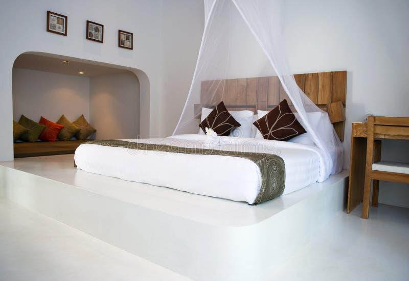 inre lyxigt för sovrum arkivbild