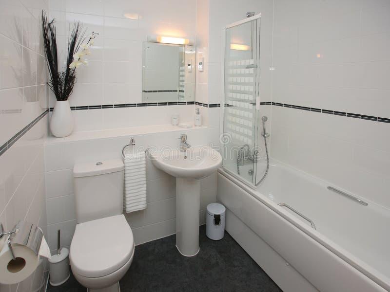 inre lyxigt modernt för badrum royaltyfri foto