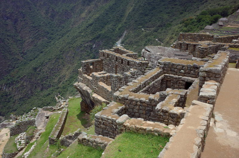 Inre Machu Picchu fotografering för bildbyråer