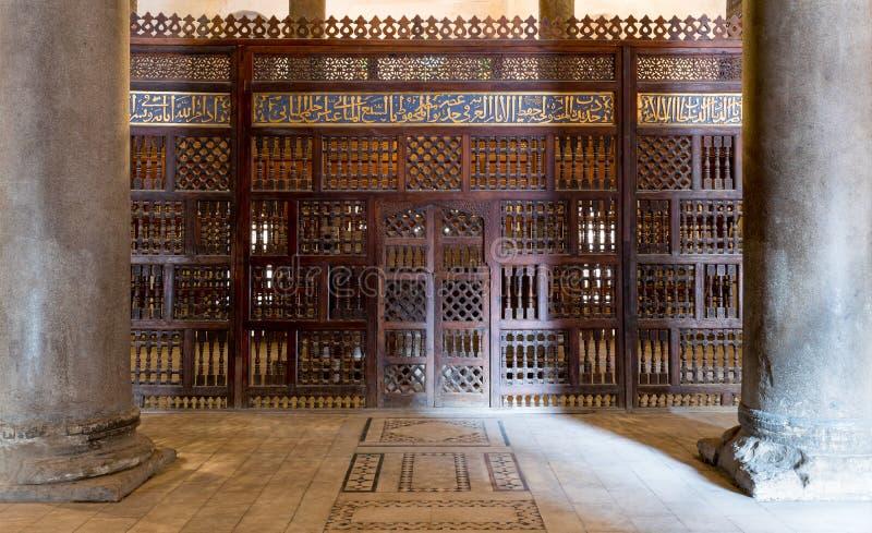 Inre mausoleet av Sultan Qalawun, gammal Kairo, Egypten arkivfoto