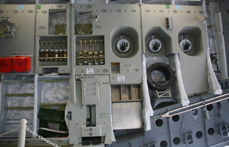 inre militär panel för 17 flygplan c royaltyfria bilder