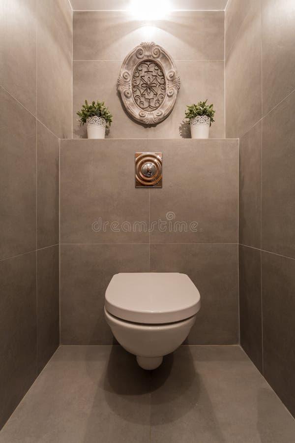 inre modern toalettwc för hus arkivbilder