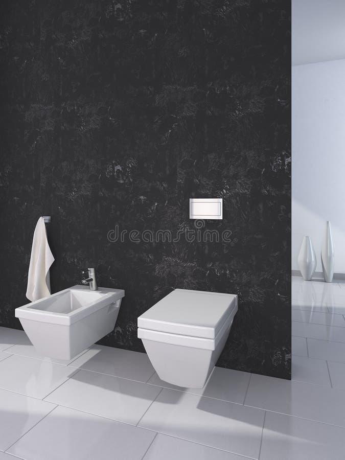 inre modern toalettwc för hus royaltyfri illustrationer