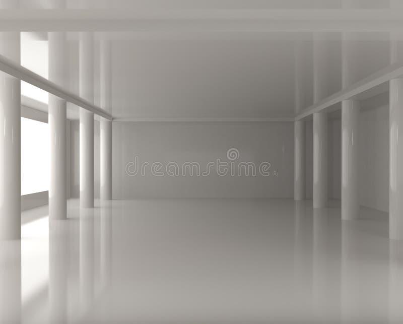inre modernt fönster för kolonner vektor illustrationer