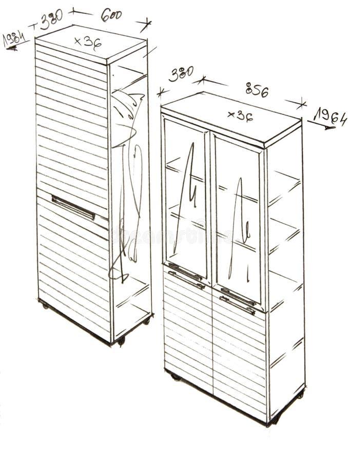inre modernt för designteckning freehand vektor illustrationer
