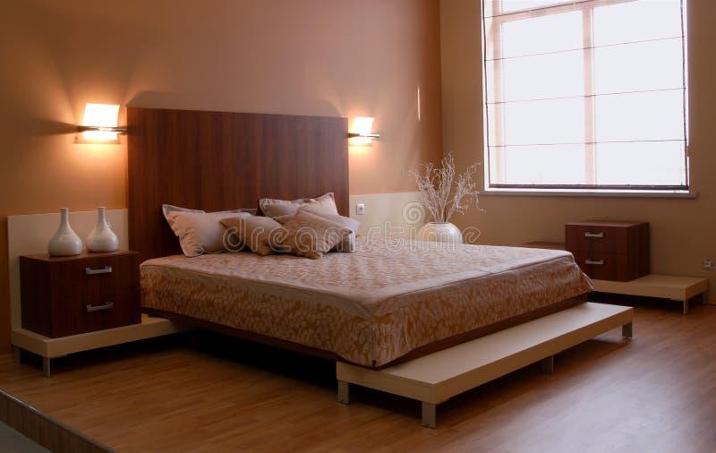 inre modernt för härlig sovrumdesign arkivfoton