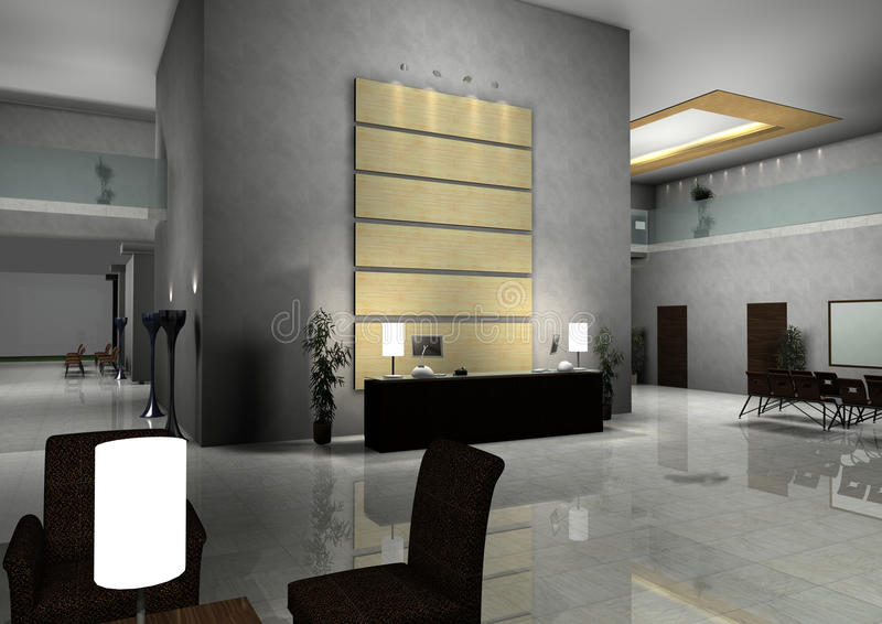 inre modernt för korridordesignkorridor royaltyfri illustrationer