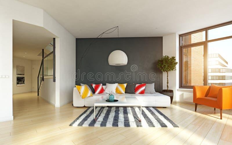 inre modernt för lägenhet stock illustrationer