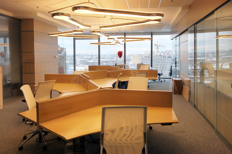 inre modernt kontor arkivfoto