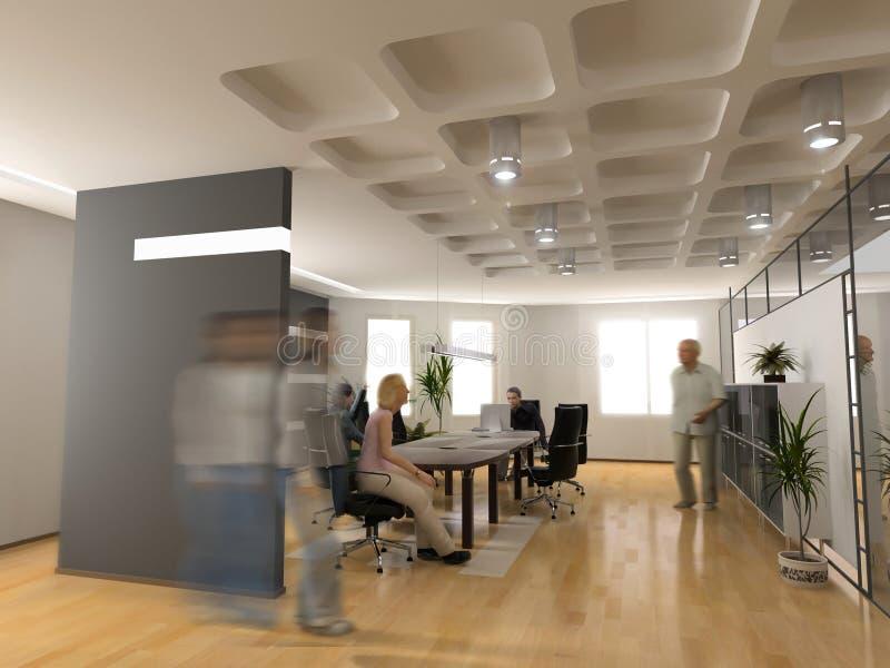 inre modernt kontor royaltyfri fotografi