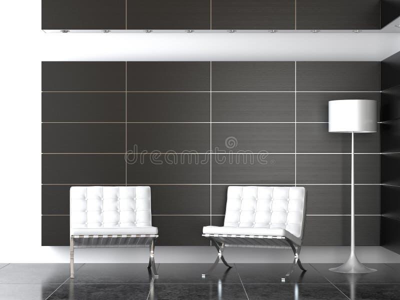 inre modernt mottagande w för b-design arkivfoton