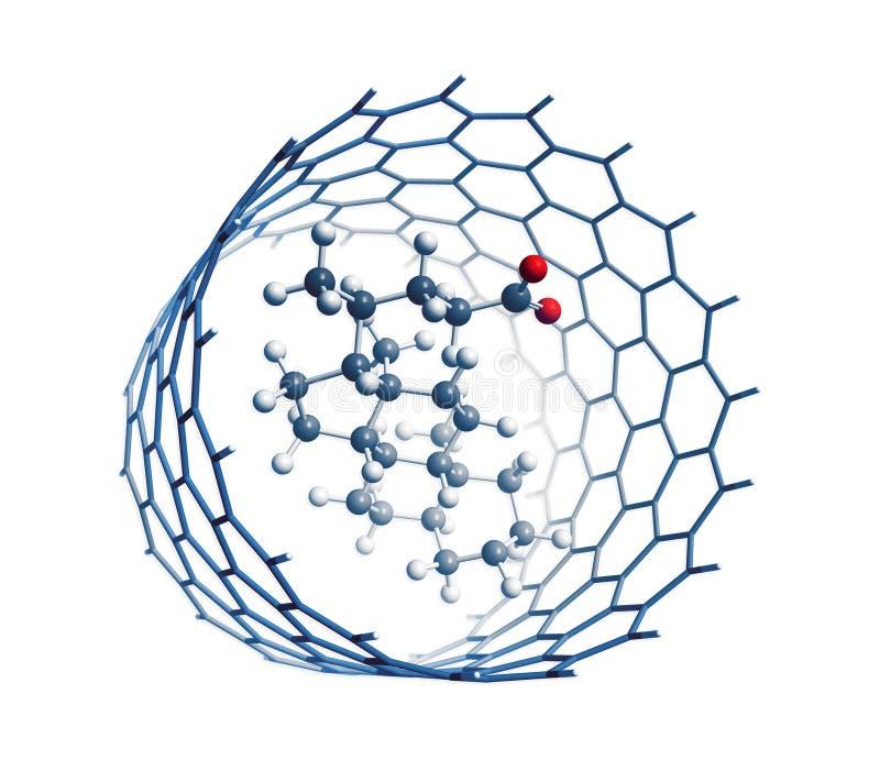 inre molekylnanotube vektor illustrationer