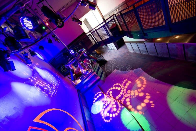 inre nattklubb fotografering för bildbyråer