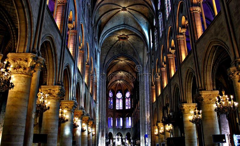 Inre Notre Dame Splendor arkivfoton