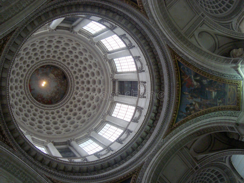 inre pantheon arkivbild