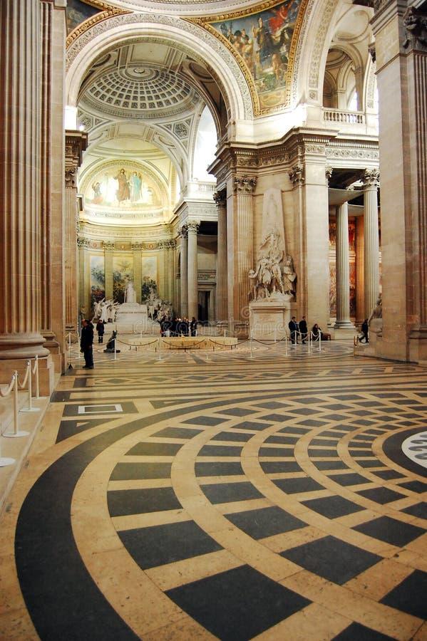 inre pantheon arkivfoto