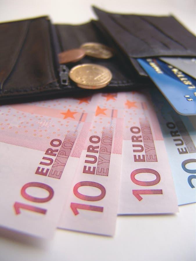 inre plånbok royaltyfri foto